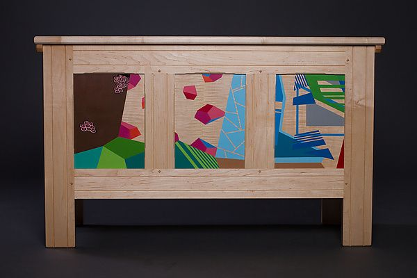 Modern Blanket Chest II by Reid Anderson: Wood Chest available at www.artfulhome.com