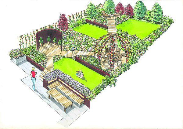 18 best SketchUp images on Pinterest   Yard design ... on Sketchup Backyard id=15375
