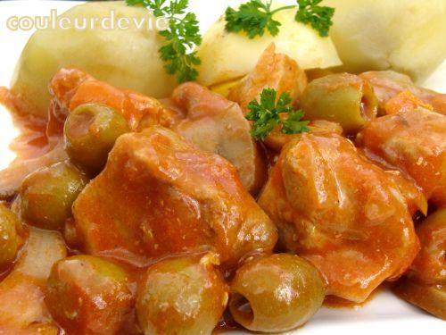 Recette Sauté de porc façon veau Marengo par Couleurdevie