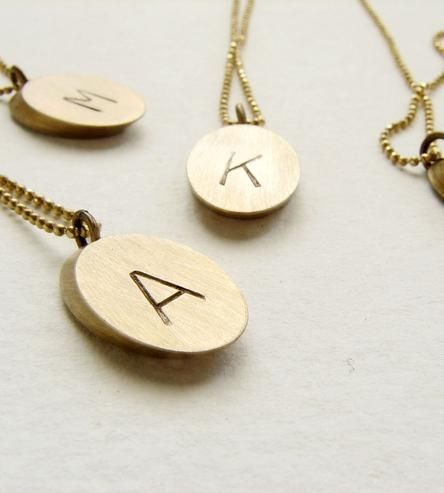 gifts for her: custom brass initial necklace. p.s: have you started a gift guide pinterest board? i'd love to see yours for some fresh ideas, so please leave a comment!