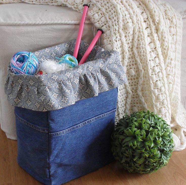 Home Frosting: Denim Project Bag