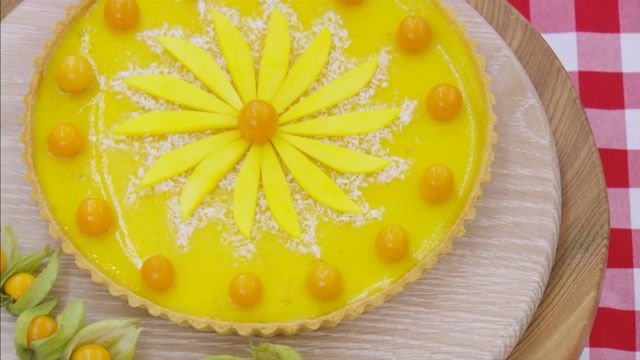 Make Luis' tropical Manchester tart recipe featured in the Pies and Tarts episode of The Great British Baking Show airing on PBS.