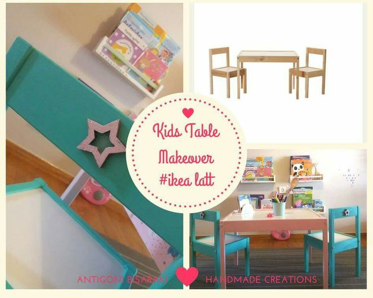 Ikea Latt Kids Table Makeover #handmade #ikealatt #kidstable