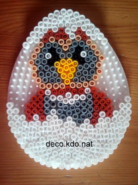 Easter egg owl hama perler beads by DECO.KDO.NAT