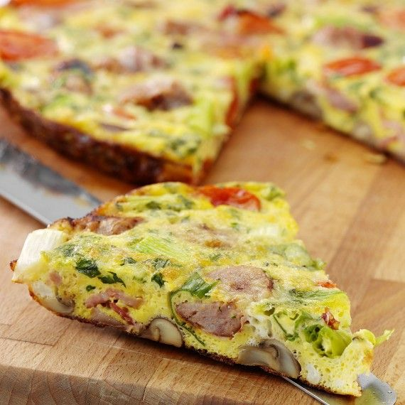 Fast Day Lunch: Mushroom And Spinach Frittata Recipe - 500 calories a day - Woman And Home