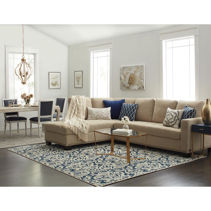Blue Grey Area Rugs In Living Room