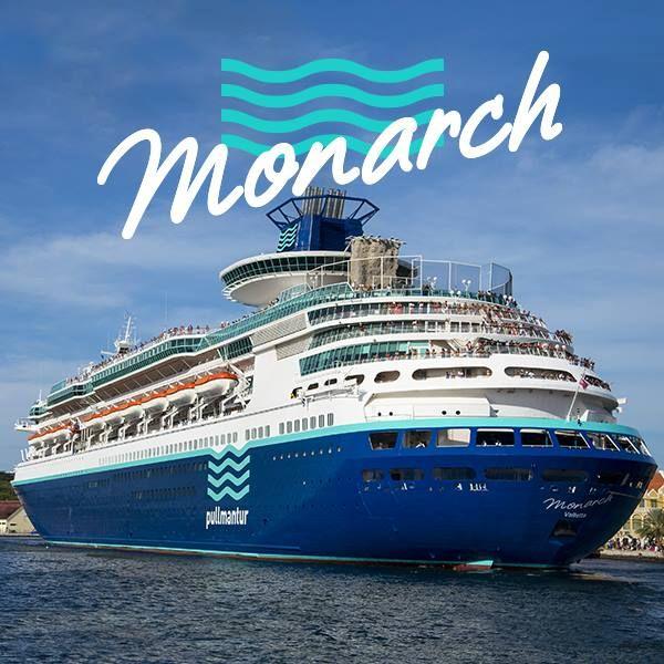 Esse é o Monarch, com 73.937 toneladas e capacidade para 2.733 passageiros.Quer saber o melhor? Ele está esperando você para navegar pelo mar do Caribe!