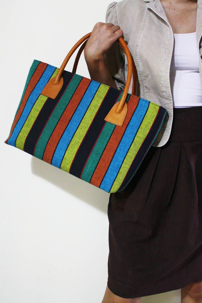 NEW ARRIVAL : Prameswari Bag combined with colorful Lurik pattern #djokdjabatik