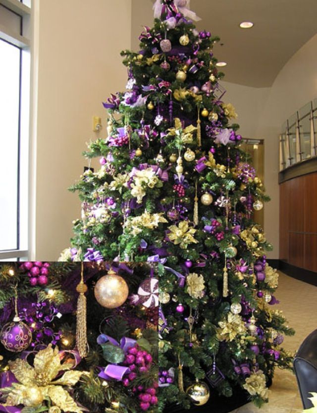 purple christmas tree christmas decor ideas christmas. Black Bedroom Furniture Sets. Home Design Ideas