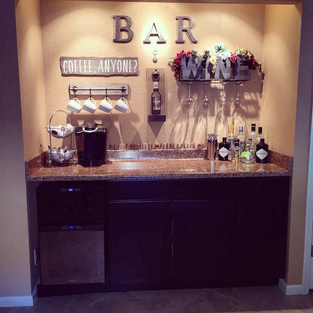 A Big Separate Counter For Coffee And Bar.
