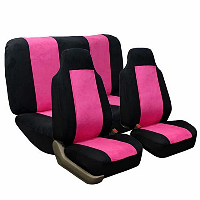 pink and black suede car seat covers my style pinterest. Black Bedroom Furniture Sets. Home Design Ideas