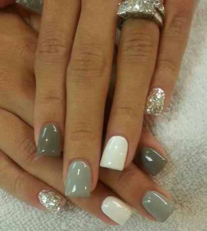 Grey, white & silver.