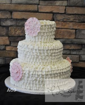 Butter Cream Iced Wedding Cakes Eggless
