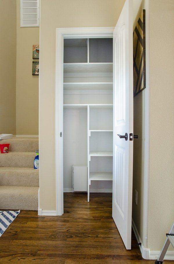 Installing Shelves Closet Remodel Cleaning Closet Organization Deep Closet