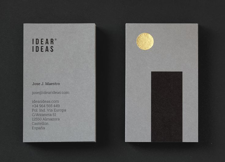 Idear Ideas visual identity and business cards by Atipo.