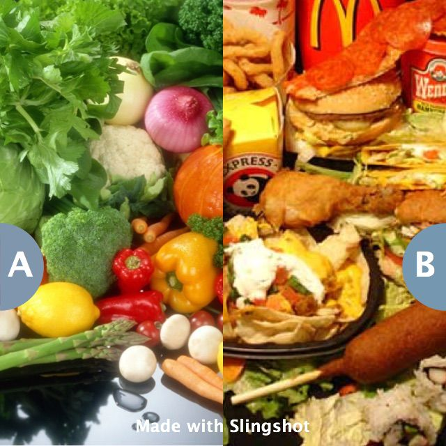Rather give up healthy food or junk food forever? Click here to vote @ http://getslingshotapp.com/share/98659