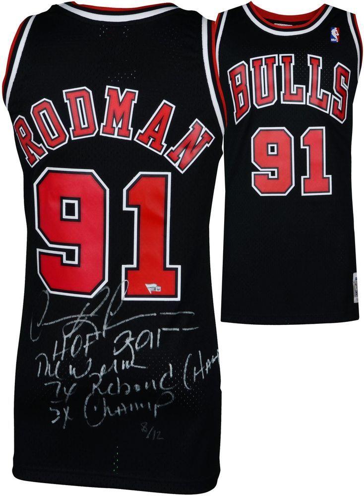 f0fa255da336b8 Autographed Dennis Rodman Bulls Jersey Fanatics Authentic COA Item 8971685