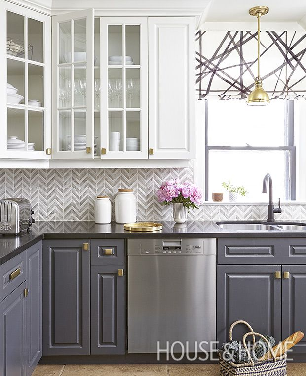 trending now kitchens with contrasting cabinets - Eat In Kitchen