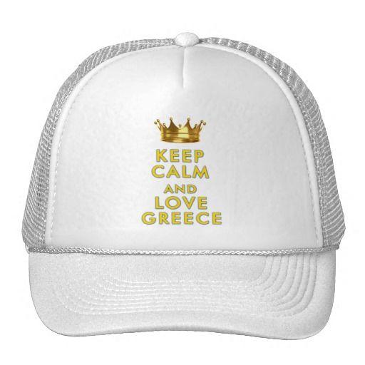 Keep Calm and love Greece slogan