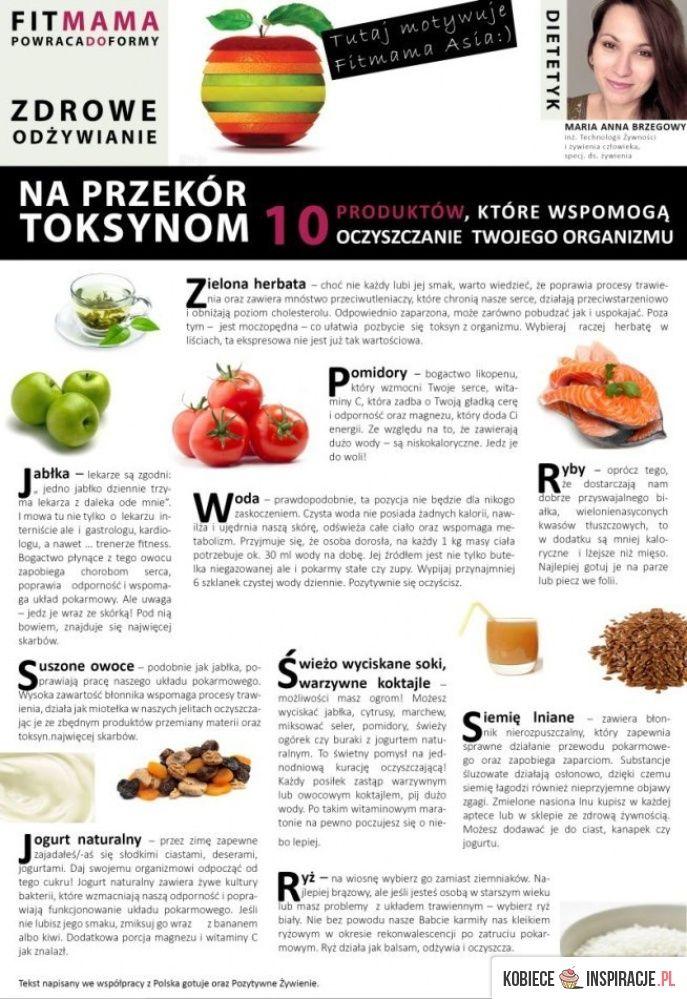 10 PRODUKTÓW KTÓRE OCZYSZCZĄ TWÓJ ORGANIZM Z TOKSYN ! - Kobieceinspiracje.pl