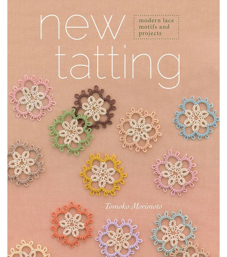 New Tatting book cover. Really simple motifs, but they look quite striking in the 2 tone colour scheme.