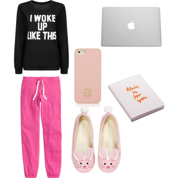 Sick at home by bambyee on Polyvore featuring polyvore, fashion, style, H&M, Tory Burch and Nuuna