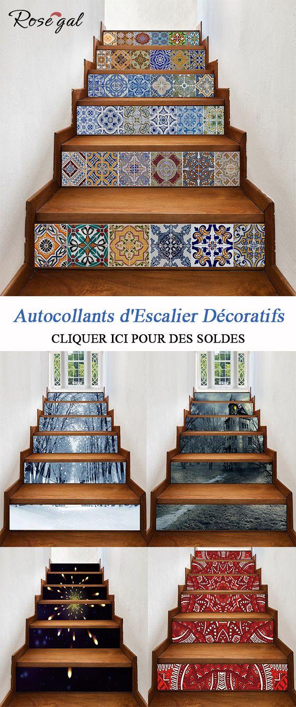 Escalier Dans La Maison stickers contremarche escalier pour la décoration de la