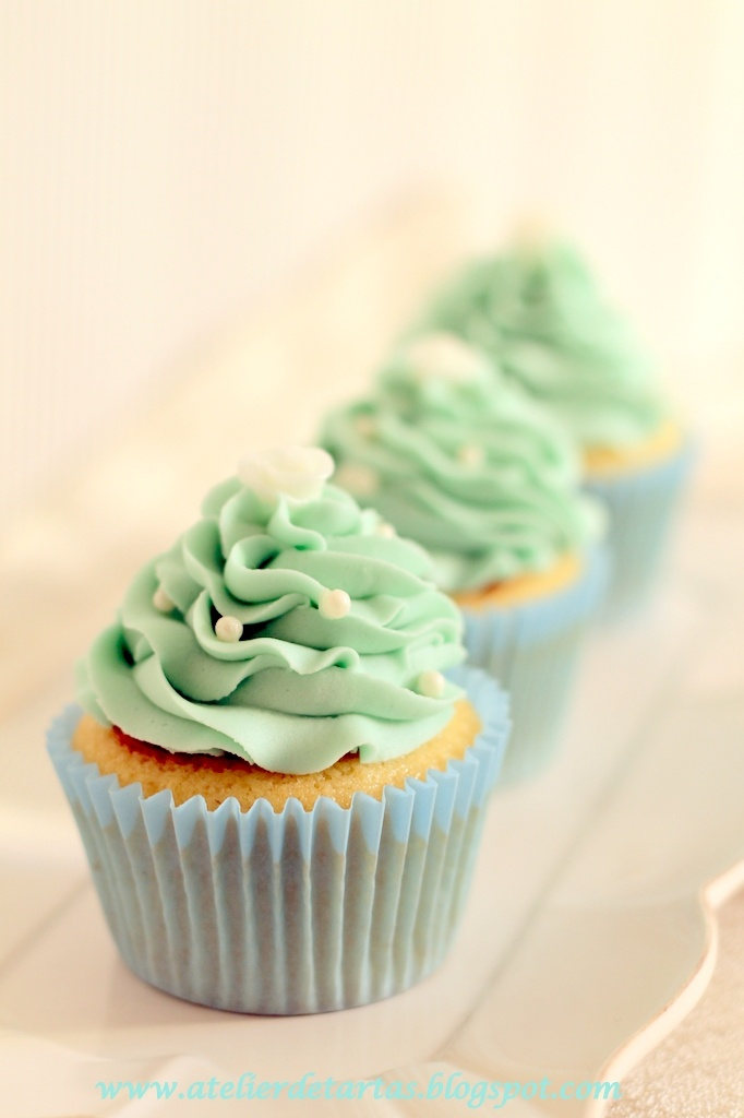 Vainilla Cupcakes, wedding cupcakes, azul cupcakes, boda cupcake