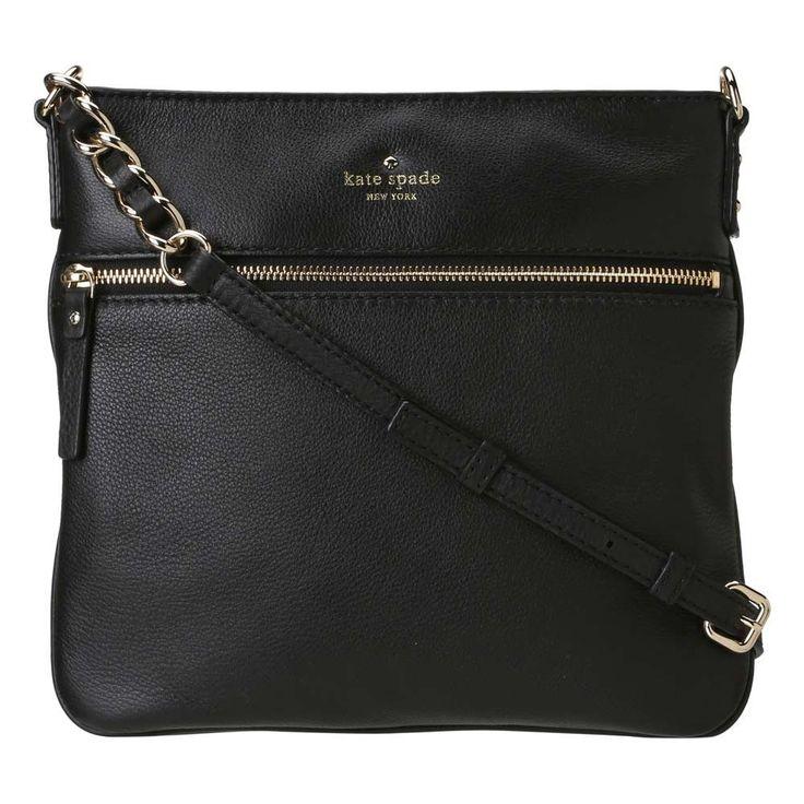 Kate Spade PXRU2233-001 Women's Cobble Hill Ellen Black Leather Crossbody Bag