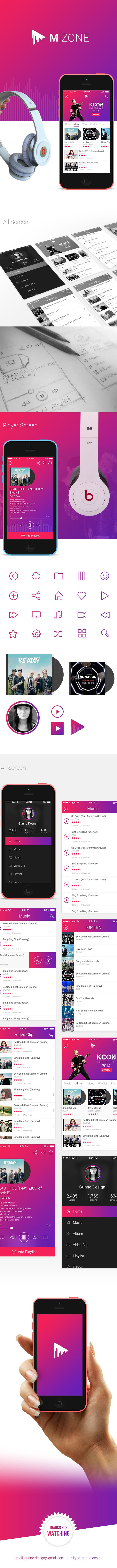M-ZONE Music on App Design Served