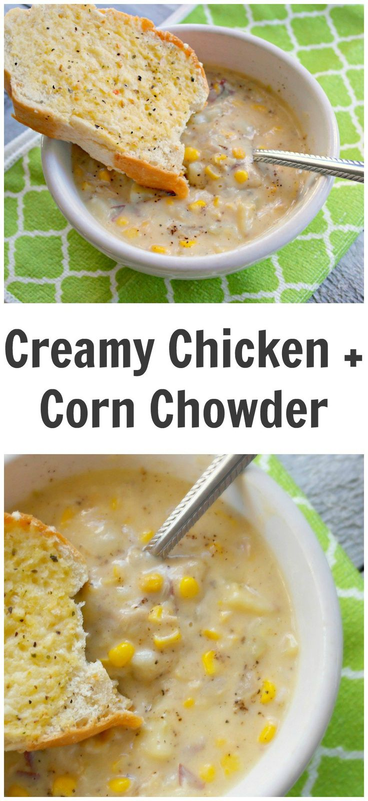 Easy Creamy Chicken And Corn Chowder Soup October 20, 2015 by Katrina 10 Comments 7.9k1322511002601 This is a super easy creamy chicken and corn chowder recipe that can be made quickly. I added a tip at the bottom to show you how you can make it in the slow cooker. If you are looking for more soup recipes, why not try one of these? Easy Homemade Miso Soup What to do With Leftover Chili Easy Creamy Chicken And Corn Chowder Soup Printable recipe is available at the bottom of this post. ...