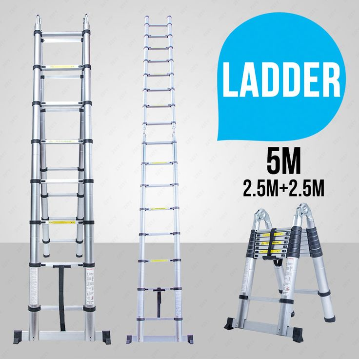 5M Multi-Purpose Folding Telescopic Aluminium A Frame Shape Extendable Ladder