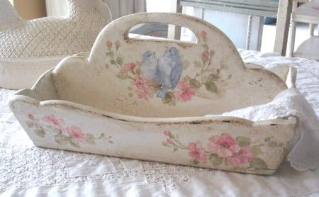 Vintage Bluebird and Roses Tote by Debi Coules (Sold $165us)