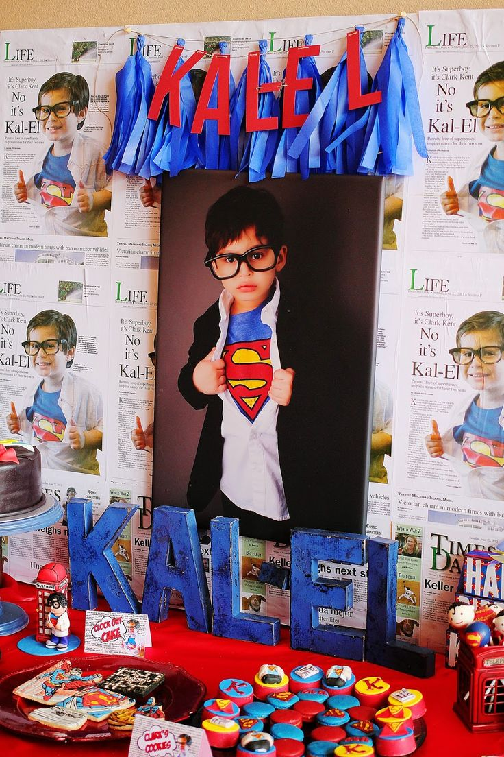 Capes & Crowns: Kal-El's Superman Party! #littleboysbirthdaytheme #littleboysbirthdayparty #supermanparty #desserttable