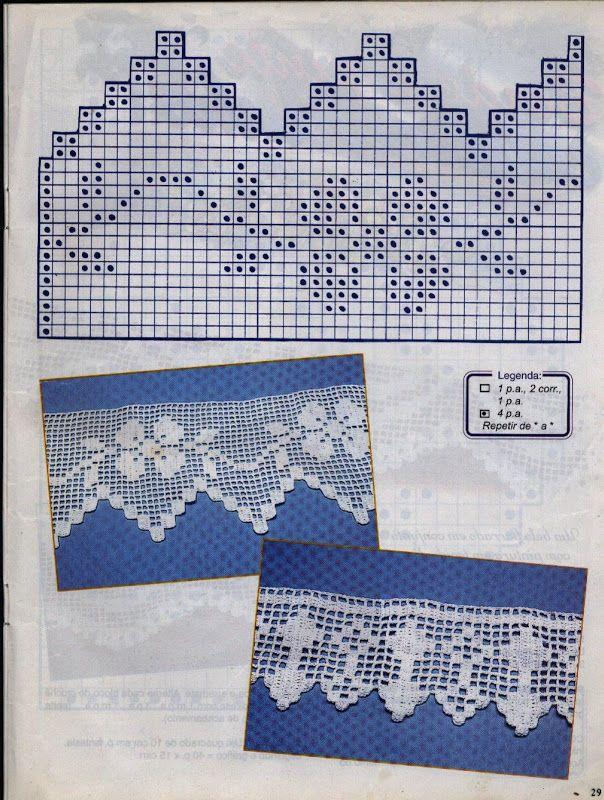 crochet - filet edgings - barrados / bicos filet - Raissa Tavares - Picasa Web…