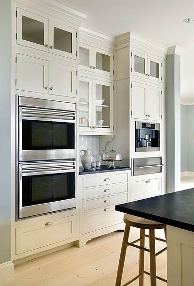 Love shaker style. My mom has these exact cabinets and drawers with the same hardware. So pretty and clean.