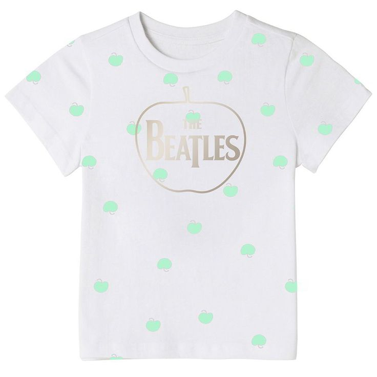 Mirine Kids Unisex The Beatles Apple Pattern Graphic Cotton T Shirt 3 Options | eBay