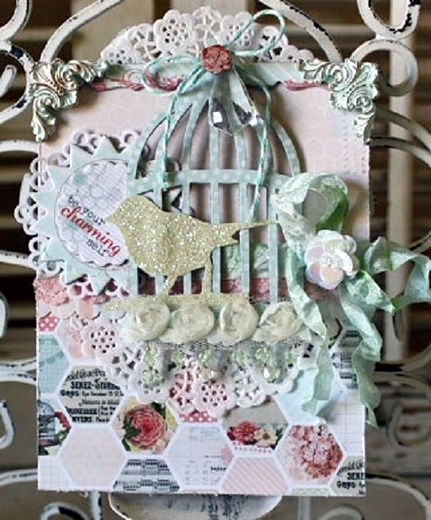 Sarah BargoEmbellishments Cards, Cards Special, Birdcages Cards, Cards Inspiration, Fabulous Cards, Inspiration Cards, Paper Craftscard, Hexagons Cards, Cards Spring