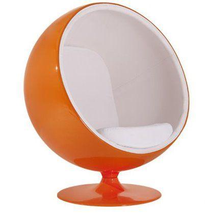 Fotel insp. Ball pomarańczowo-biały