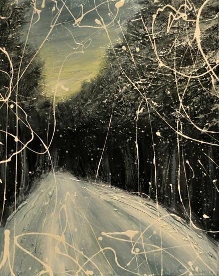 Orange Art Gallery  - Julie Berthelot - Evening Walk; Purchase Online. Art. Painting  Forest . Urban Nature