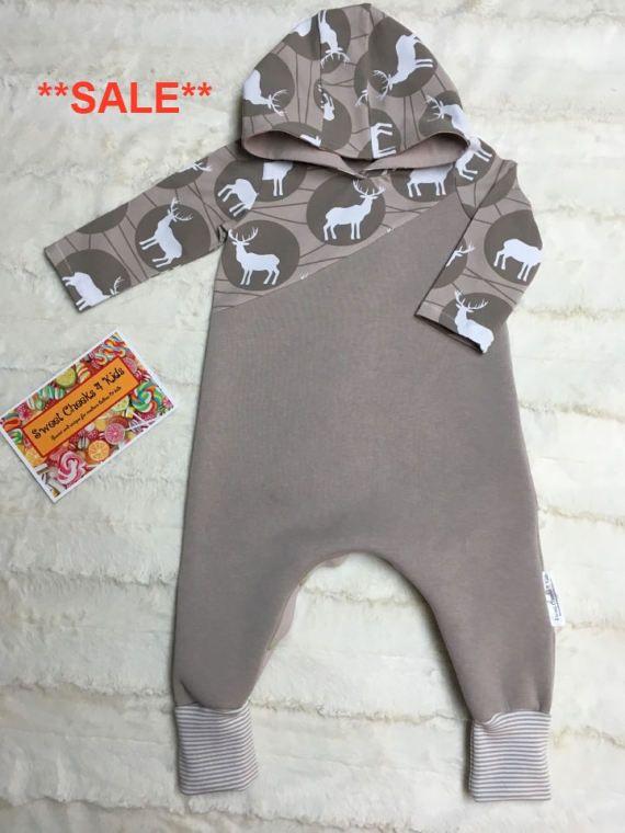 Gender Neutral Kids Clothing Size 12 Months Harem Romper Baby