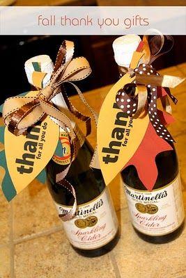 thanksgiving teacher treats- cider