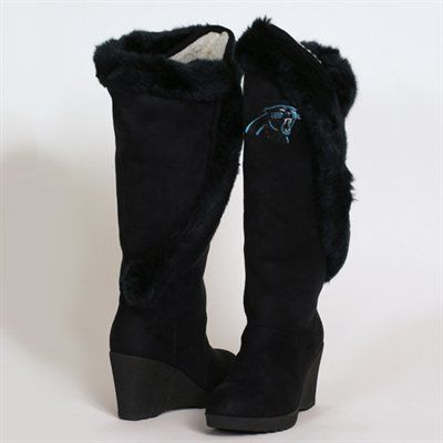 Cuce Shoes Carolina Panthers Women's Cheerleader Boots - Black ;)
