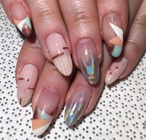 9dac6f8c04 40 Super Fabulous Dried Flower Nail Art Designs; flower nails; dry ...