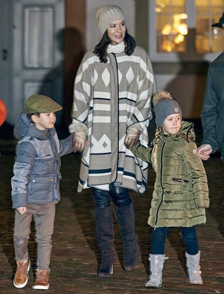 Princess Josephine and Prince Vincent attend the Hunting Parade on November 22, 2016