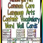 This packet has word cards for important vocabulary words in the Language Arts Common Core State Standards for Kindergarten. This will allow you to...
