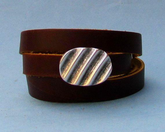 Mens Leather Wrap Bracelet Mens For Men Boyfriend Mens by GUSFREE