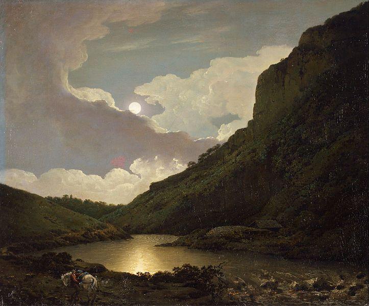 Joseph Wright of Derby - Matlock Tor by Moonlight