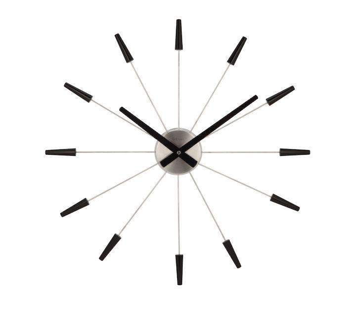 Nextime :: Zegar Ścienny Plug Inn ø58cm czarny - Nextime 2610ZW | 9design Warszawa