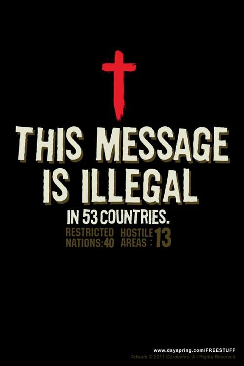 http://www.opendoors.org Christians are the most persecuted people in the world, and yet not many know that.